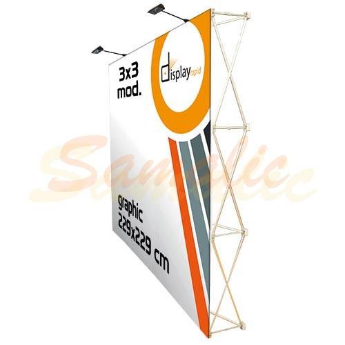 POP UP VELCRO 3X3 CON TROLLEY PUBLICIDAD REF H111 CIFRA