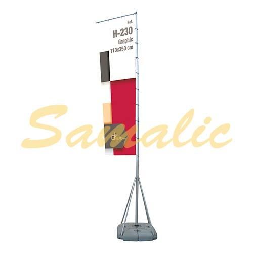 BANDERA PARA EXTERIORES 5 M ECONOMICO REF H230 CIFRA