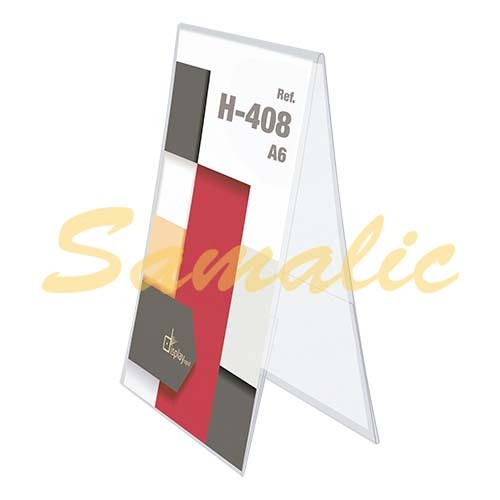 PORTAGRAFICA PVC DUO VERTICAL A6 MERCHANDISING REF H408 CIFRA